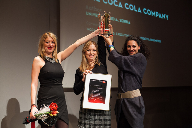 """The """"Grand Sempler"""" for the best media strategy of 2013went o Universal Media Serbia for their """"Share a Coke"""" campaign (image via)"""