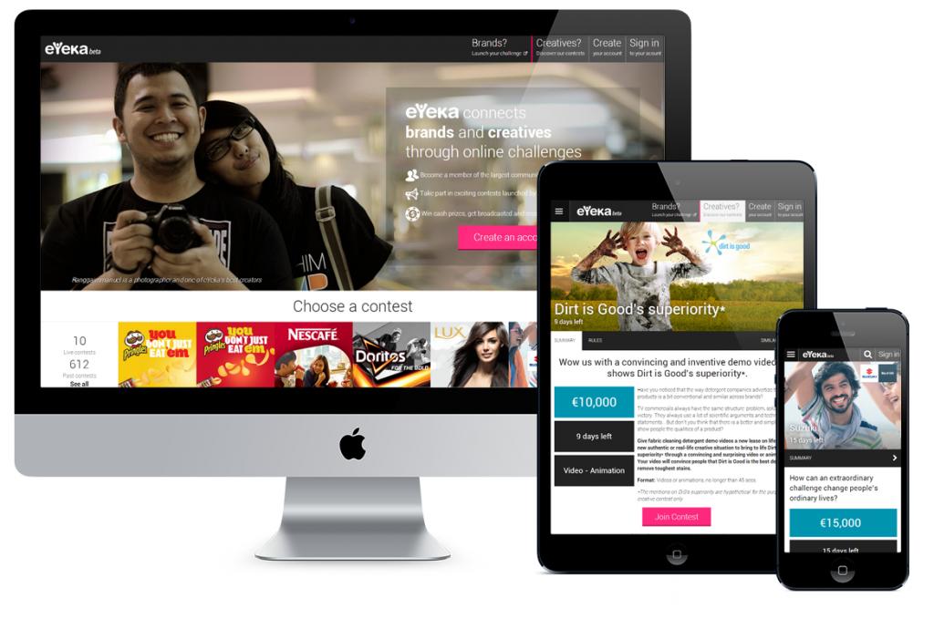 new eyeka.com website