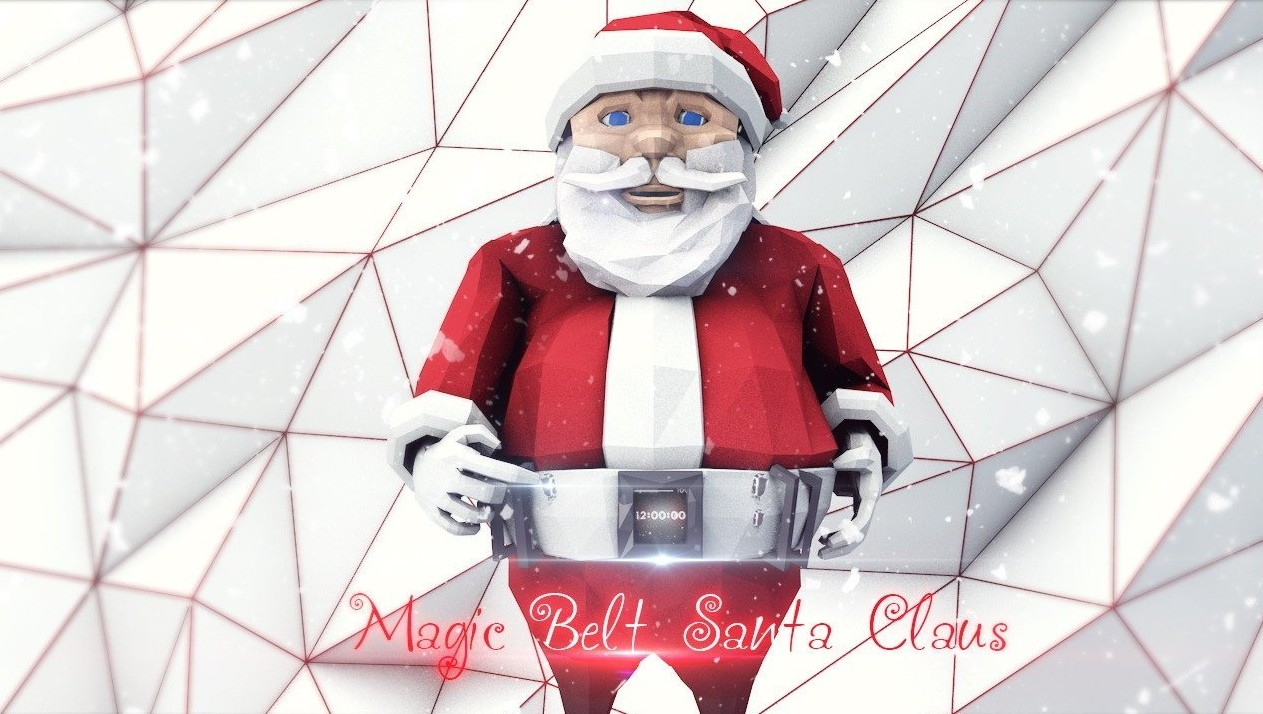 I think the secret of Santa Claus and the magic is hidden in his belt. With it, he moves over long distances, can stop time for New Year's Eve (by Russian creator Transmedia).