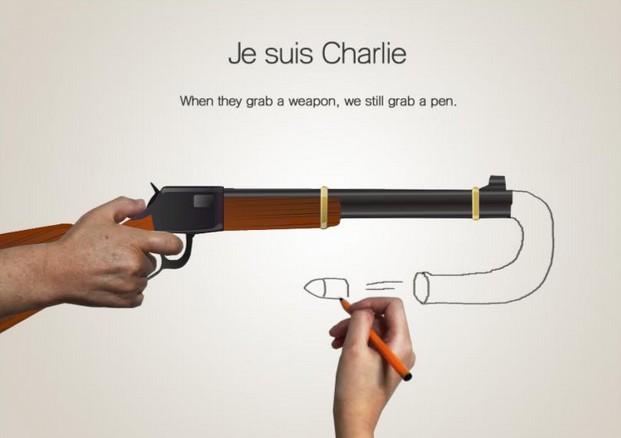 eYeka JeSuisCharlie - When They Grab A Weapon We Still Grab A Pen
