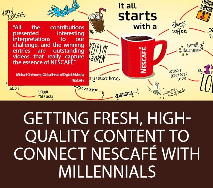 High-quality video content to connect NESCAFÉ with Millennials