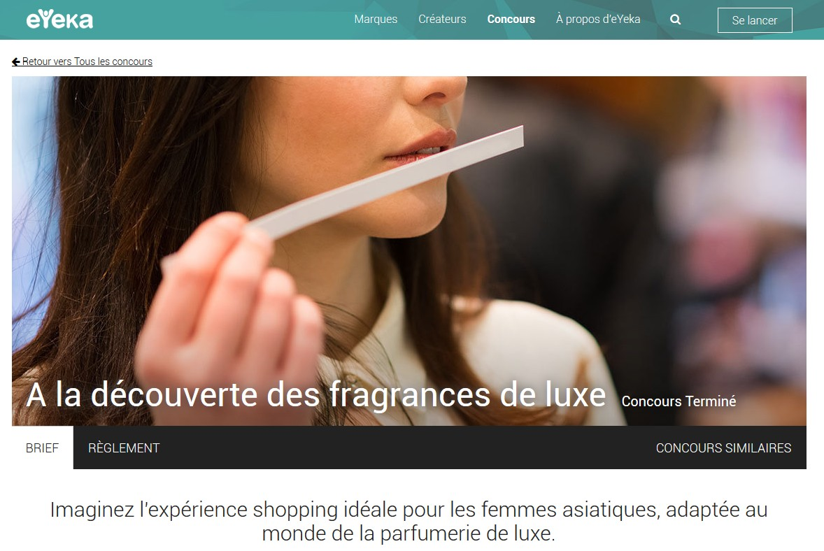 Concours Parfum Luxe eYeka