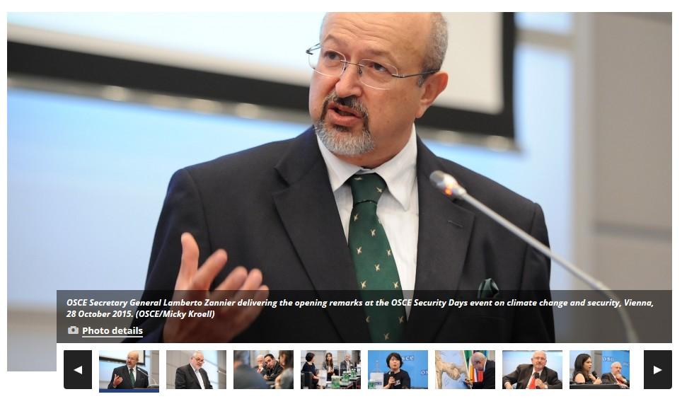 OSCE Secretary General Lamberto Zannier Security Days
