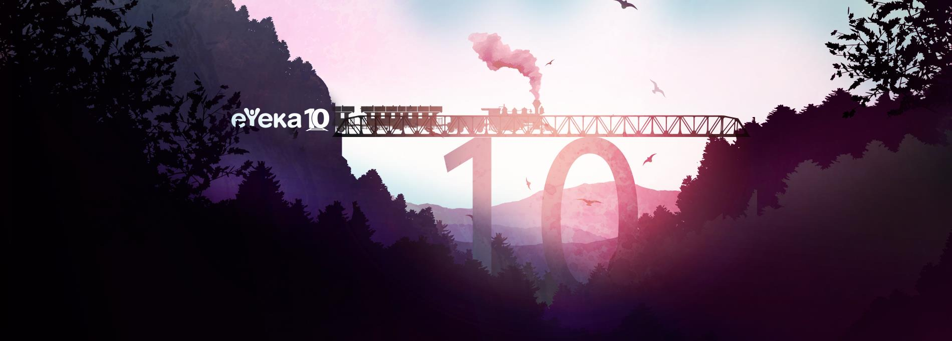 eYeka banner for 10 years - train